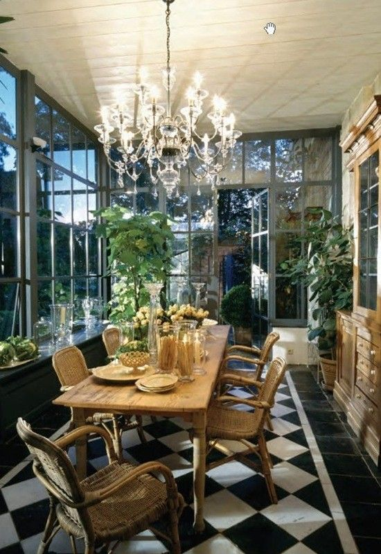 sunroom dining  Bellagio images  Home Decor Painted