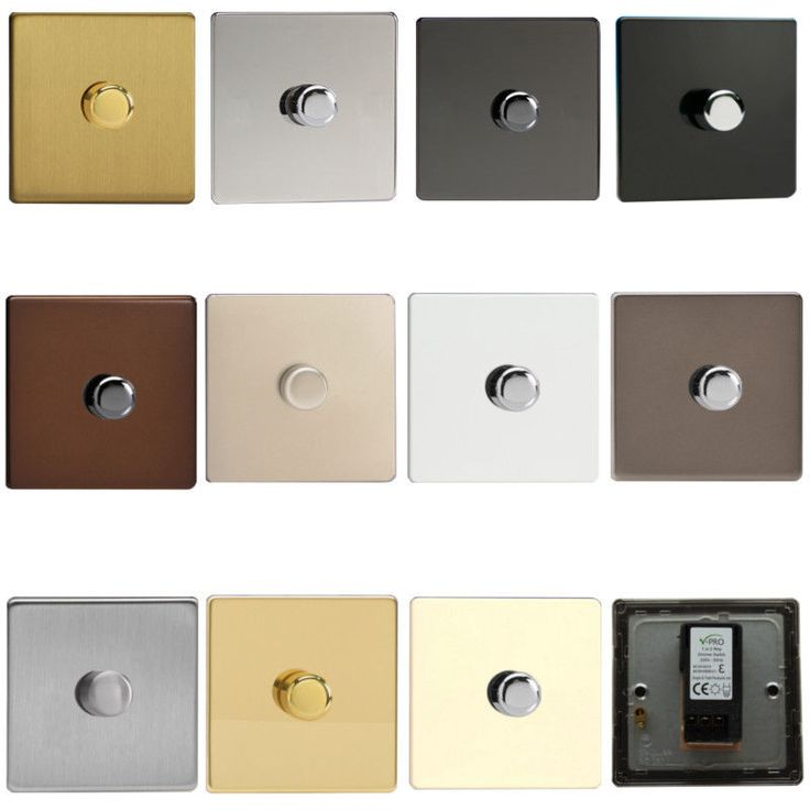 Varilight Decorative Screwless Push on/off Rotary V-Pro 120w LED Dimmer Switches