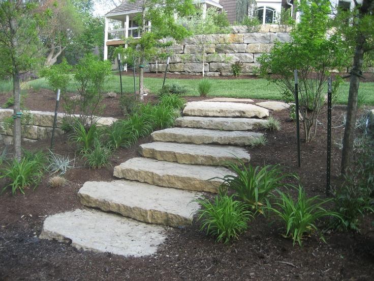 ledge stone steps transition