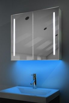 Demister Bathroom Cabinet, Mirror, Heated Bathroom Mirror - Illuminated Mirrors UK