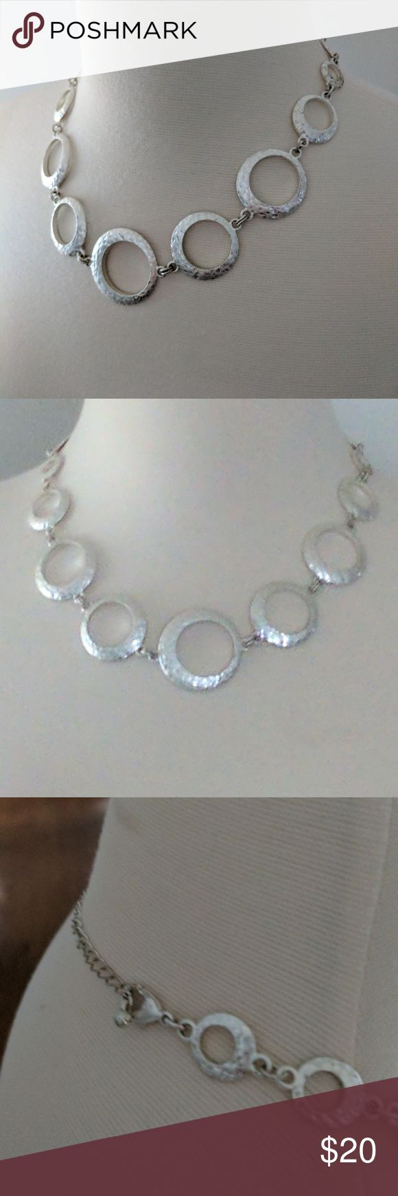 Park Lane Circle Hammered Silver Necklace Park lane hammered silver necklace Park Lane Jewelry Necklaces
