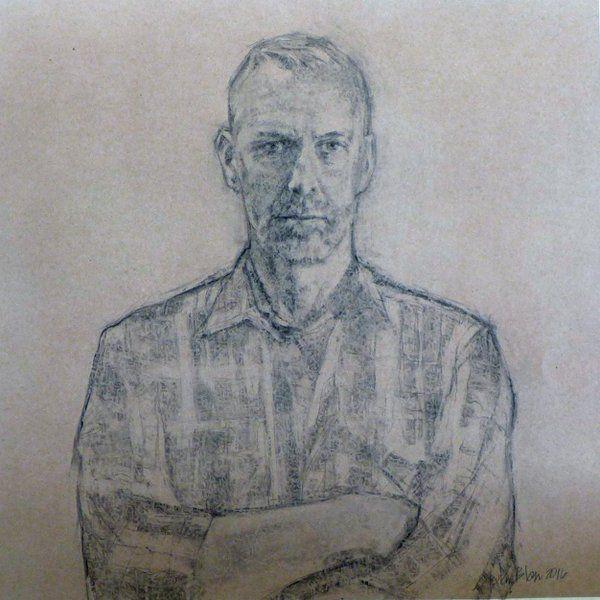 Stefa Blom | Charcoal on paper 70 x 70 cm Portrait of Tako Soulman