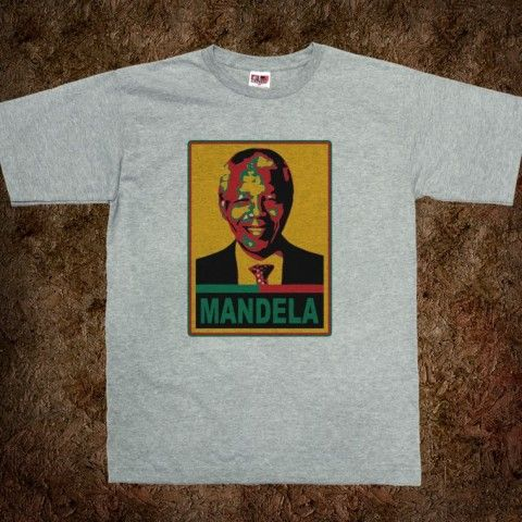 NELSON MANDELA t-shirt in Colors of South Africa Flag