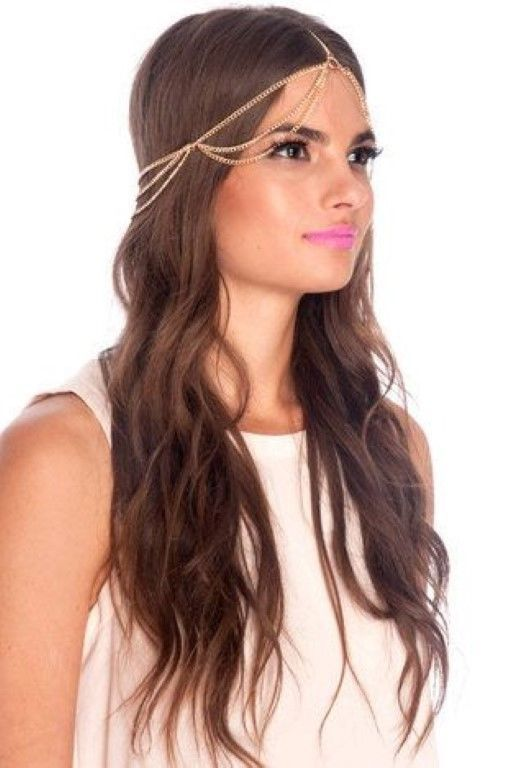 Fashion Style Women Gold Metal Gypsy Hipster Head Chain Jewelry ...
