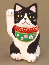 """くろべえ招き猫  maneki-neko """"kurobei"""""""