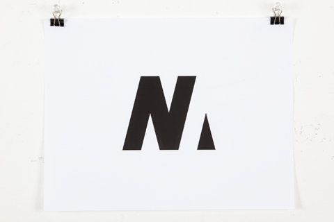 Nathaniel Matthews logo. One of the hardest things to achieve in design is simplicity - this is a great example of some serious hard work