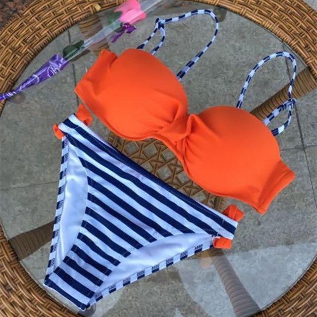 Bikini 2017 Swimwear Female S-XL Sexy Push Up Swimwear Women Two Piece Swimsuit Split Bikini Set Biquini Plavky Brazilian Bikini