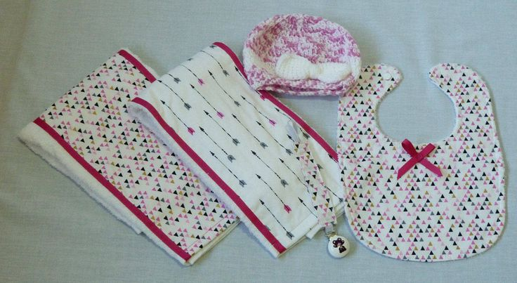 Burp Cloths, Bibs, Baby Girl, Baby Shower Bib & Burp Cloth Sets by DapperBubs on Etsy