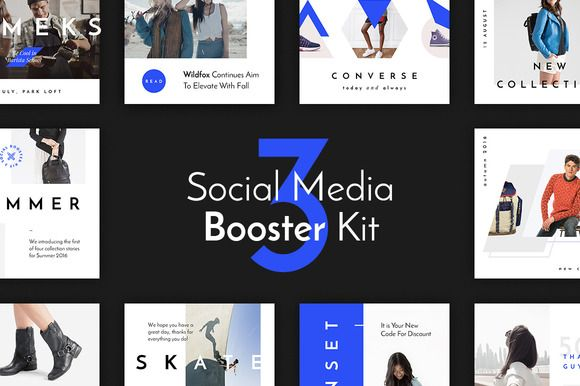 Social Media Booster Kit 3 by PixelBuddha on @creativemarket