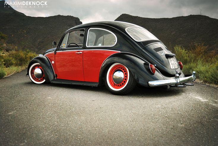A custom low-ride, twin palette Volkswagen