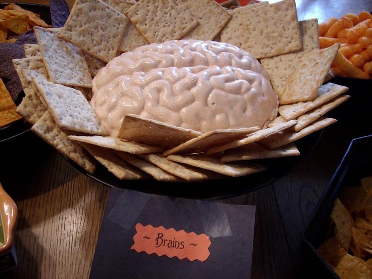 Shrimp Dip Brain Mold For Halloween Or In Our Case Ella