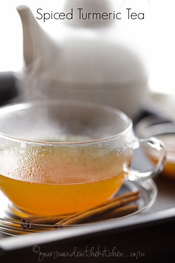 This sweet and spicy cinnamon, ginger and turmeric tea is perfect for when you feel a cold coming on.