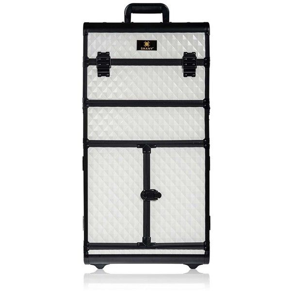 Shany Rebel Series Pro Makeup Artists Rolling Train Trolley Case ($300) ❤ liked on Polyvore featuring bags and luggage