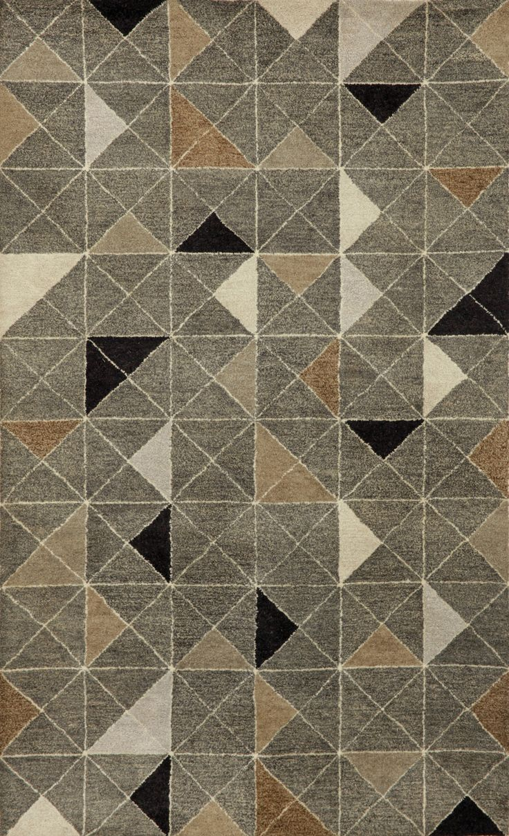 best rugs  carpets images on pinterest  carpets modern rugs  - liora manne fantasy triangles grey area rug  allmodern