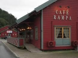 Cafe Rampa in Hommelvik right next to the old train station.