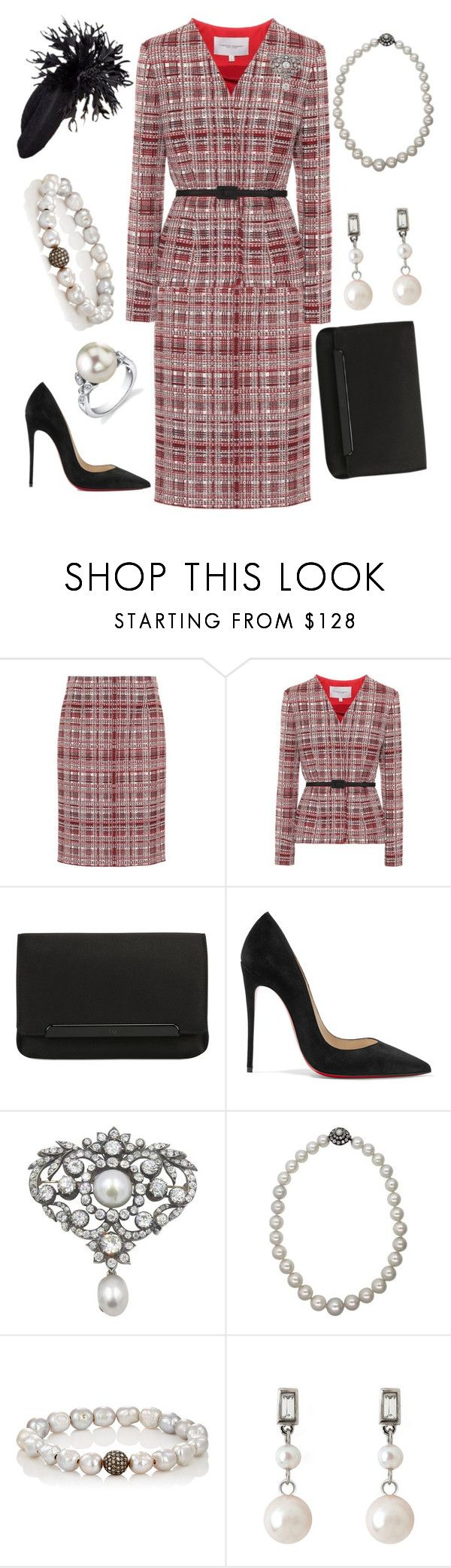 """""""Investiture Ceremony"""" by nmccullough ❤ liked on Polyvore featuring Carolina Herrera, Christian Louboutin, Epoque, Devon Page McCleary and Brooks Brothers"""