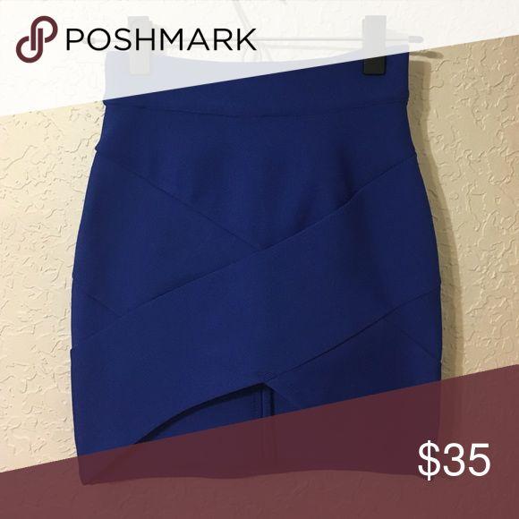 LF Blue Bandage Skirt LF. Rumor Boutique. Royal blue, bandage skirt, slightly shorter in front. Size 6 LF Skirts Mini