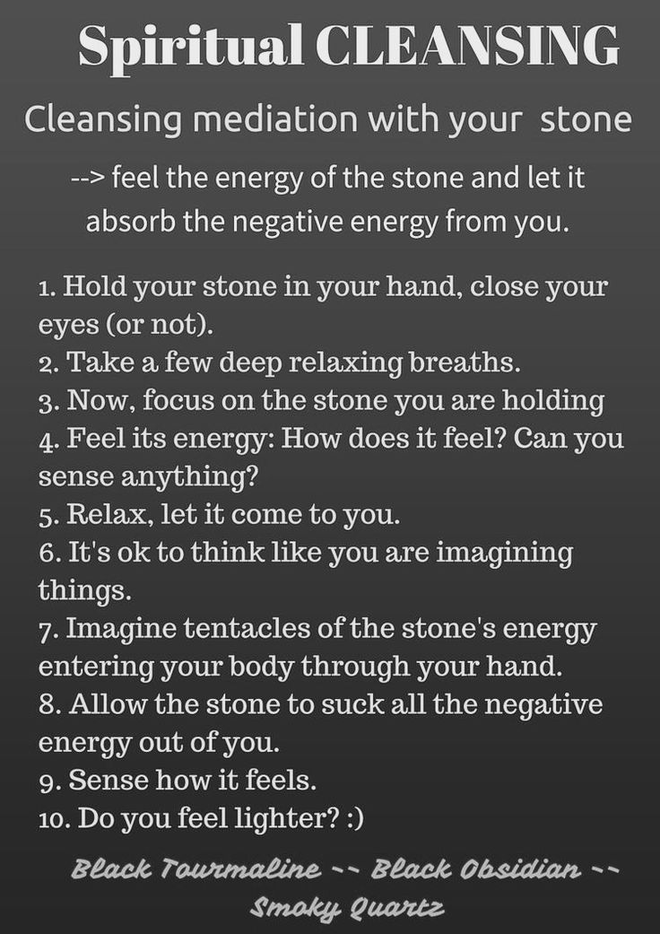 Spiritual cleansing with stones~✨ Mo