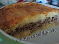 Запеканка из картофеля с мясом - фото