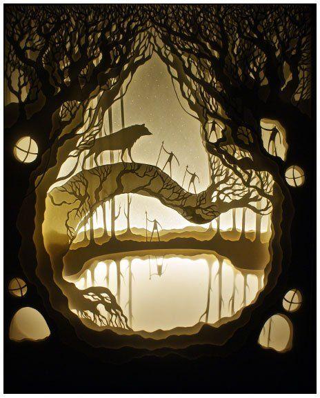 Удивительные многослойные бумажные картины арт-дуэта Hari & Deepti (24 фото + видео)