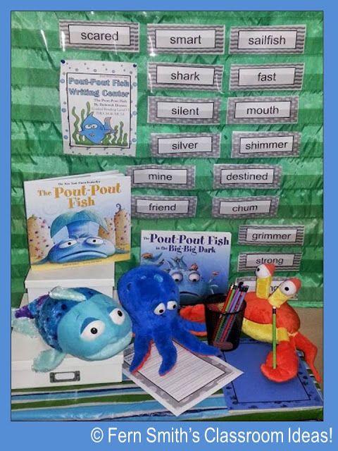 Fern Smith's Classroom Ideas Pout-Pout Fish Writing Center Resources Available At TeachersPayTeachers.