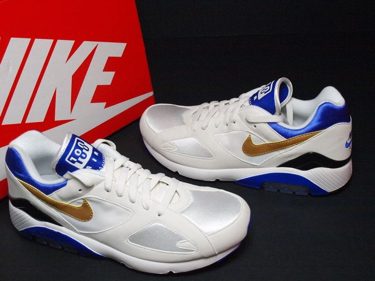 2013 Nike Air Max 180 QS White Gold Concord NSW Running 626960-175  #Nike #RunningCrossTraining