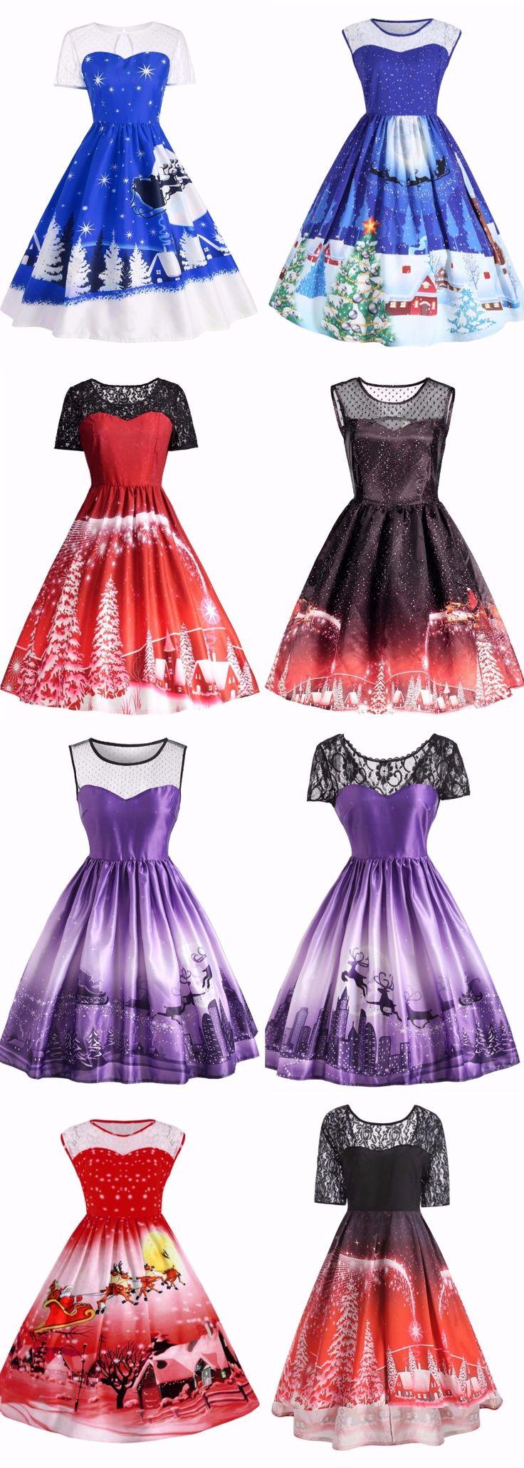 Happy Christmas Dress | Start From Only $14 | Plus Size |  Dress Frill | Dress Geometric | Feather Dress | Chiffon Ruched | Mermaid Dress | Ruffle Dress | Purple Dress | Belted Surplice | Sammydress.com
