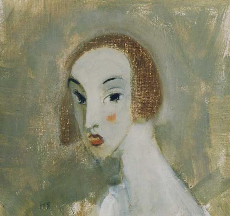Helene Schjerfbeck, 1862-1946: Elegant dam, 1928