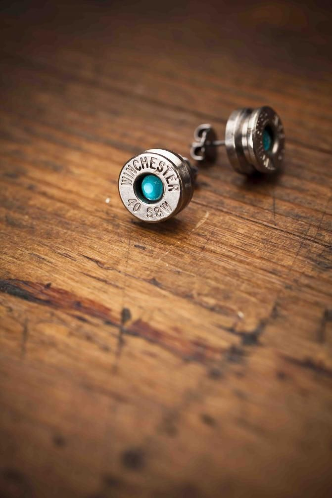 Bullet Earrings Teal for Bourbon and Boots