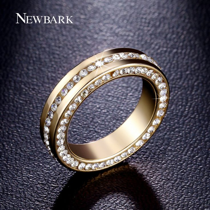 Find More Rings Information about NEWBARK Luxury Wedding Ring 18k Gold Plated…