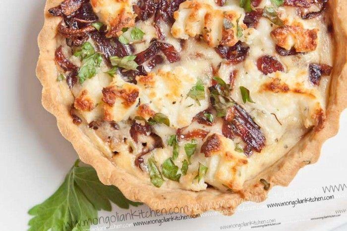 caramelized onion & goat cheese tart