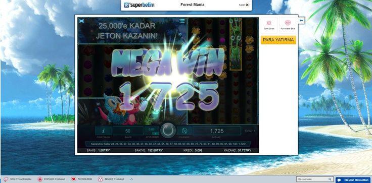 #28ŞubatDemek Superbetin Casino demek! Forest Mania'da Mega Win'i yakalayan üyemizi #tebrik ederiz!  Ayrıca 16.000 TL Kazanma Şansı da var!