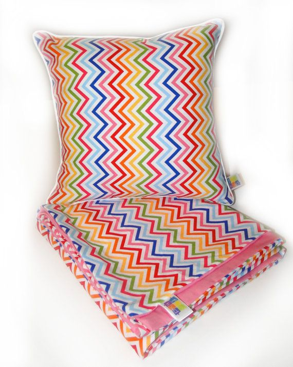 Zig Zag Multicoloured Cot Quilt Cover for girls by funkydecor1, $85.00