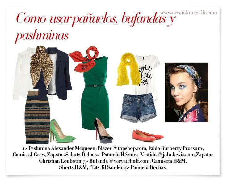 Como usar bufandas, pashminas y pañoletas: Casual Fashion, Mi Moda,  Internet Site, Using,  Website, Usar Bufanda, Web Site, Cómo Usarla, Pashmina