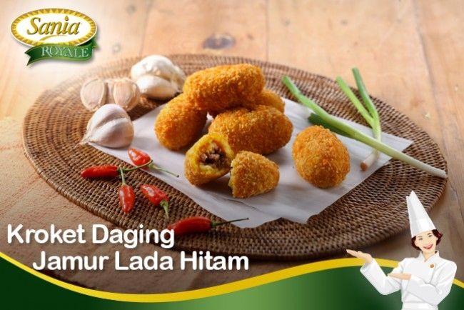 Kroket Daging Jamur Lada Hitam - Sania Royale