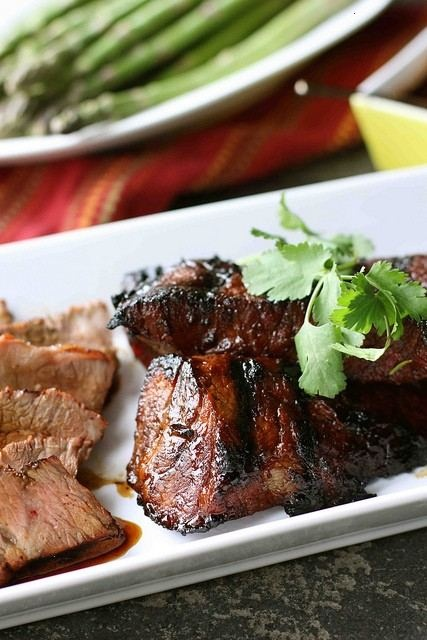 Grilled Tri-tip Steak With Molasses Chili Marinade Recipe By ...