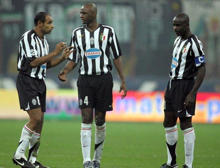 """Émerson"" Émerson Ferreira da Rosa (Juventus FC, 2004–2006, 67 apps, 4 goals), Patrick Vieira (Juventus FC, 2005–2006, 31 apps, 5 goals) and Lilian Thuram (Juventus FC, 2001–2006, 144 apps, 1 goal)."