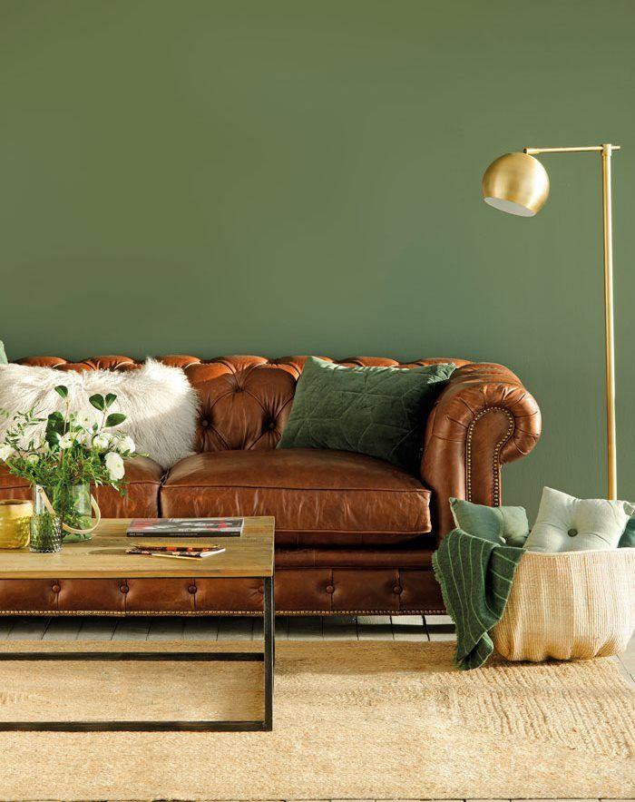 Como Pintar Un Salon Con Muebles Oscuros Muebles Oscuros Colores De Casas Interiores Casas Pintadas Interior