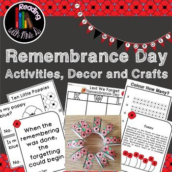 Remembrance Day Activities Decor and Crafts BUNDLE