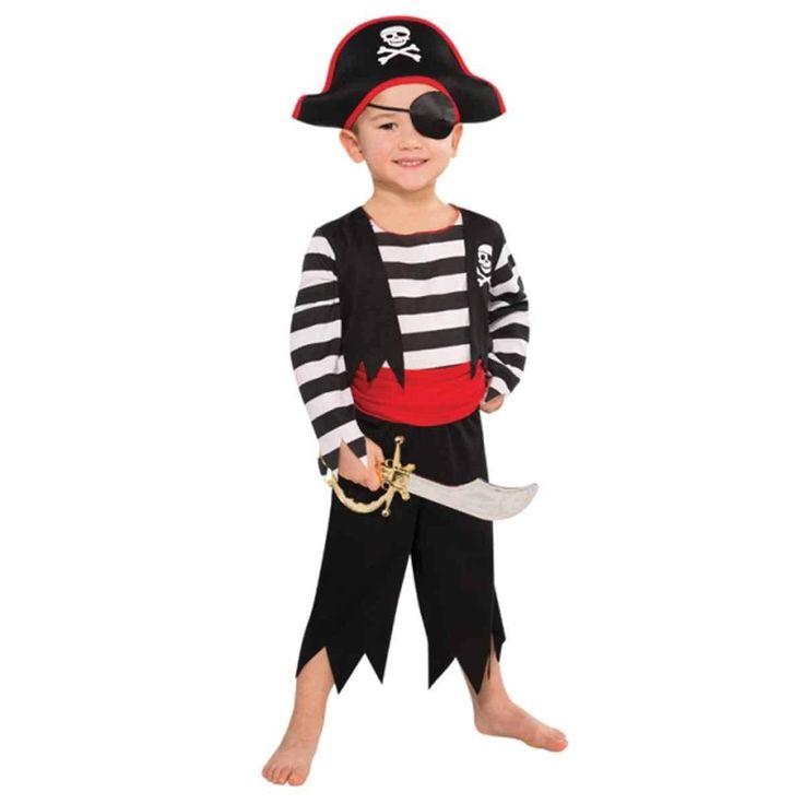 Little Boys Pirate Skull Costume