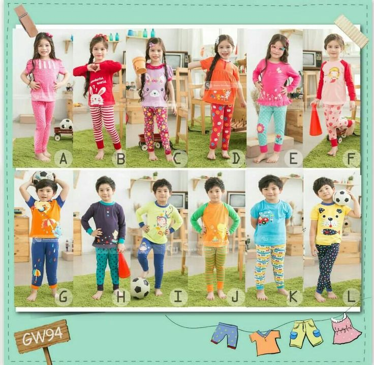 GW94 LONG PYJAMAS SIZE 95-140 FIT TO 2T-7T