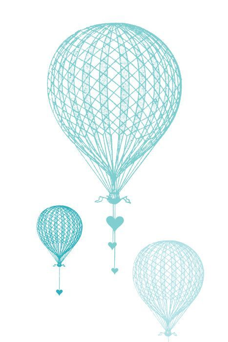 GiftAmor Hot Air Balloon Wedding Card