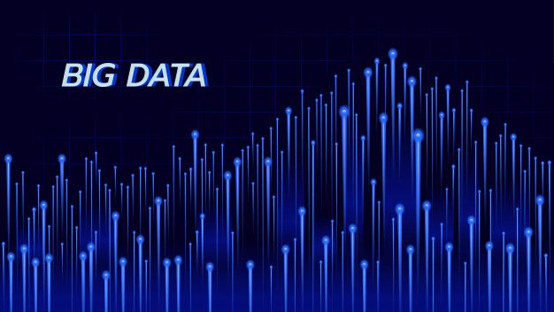 Abstract Background About Big Data Technology In Blue Theme Big
