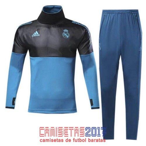 Chandal conjunto Adidas Real Madrid 2017-18 negro-azul