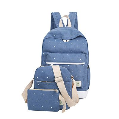 3Pcs/Sets Korean Canvas Printing Backpacks Book Bags Preppy Style School Bags for Teenage Girls Composite Bag mochila Sac a Dos