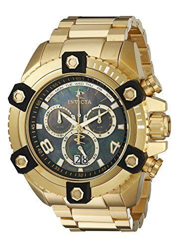 Invicta Men's 0340 Arsenal Reserve Chronograph Gold Tone Watch...