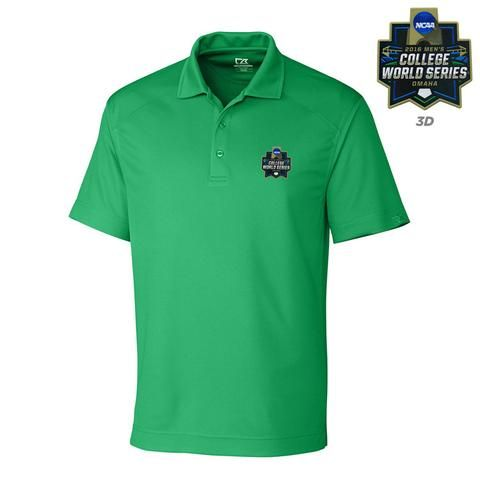 NCAA College World Series 2016 Polo Kelly Green Cutter & Buck Dry Fit