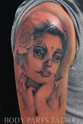 Chicano Style Tattoo by Holger Jarosch @ Body Parts Tattoo Münster