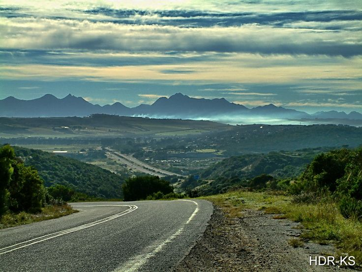 A roadside view of Klein Brak Rivier, near Mosselbay, South Africa.