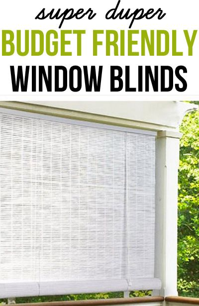 I used these outdoor roll-up blinds...INSIDE. They look great and are affordable window treatments even for the smallest decorating budget.